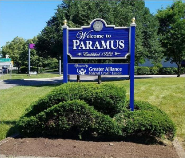 Welcome to Paramus sign on Road